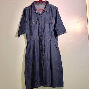 E & J Collection Dresses - szLG 👗So cute..Light Weight, Summer Denim Dress